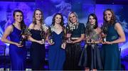 25 November 2017; Dublin players, from left, Leah Caffrey, Rachel Ruddy, Noelle Healy, Nicole Owens, Sinead Aherne and Ciara Trant with their TG4 All Star awards during the TG4 Ladies Football All-Star Awards at the CityWest Hotel in Saggart, Co Dublin. Photo by Brendan Moran/Sportsfile