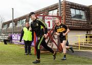 26 November 2017; Colm Cooper of Dr. Crokes makes his way out to the pitch ahead of the AIB Munster GAA Football Senior Club Championship Final match between Dr. Crokes and Nemo Rangers at Páirc Ui Rinn in Cork. Photo by Eóin Noonan/Sportsfile