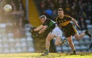 26 November 2017; Paddy Gumley of Nemo Rangers in action against John Payne of Dr. Crokes during the AIB Munster GAA Football Senior Club Championship Final match between Dr. Crokes and Nemo Rangers at Páirc Ui Rinn in Cork. Photo by Eóin Noonan/Sportsfile