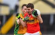 26 November 2017; Ray O'Malley of Castlebar Mitchels is tackled by Liam Silke of Corofin during the AIB Connacht GAA Football Senior Club Championship Final match between Corofin and Castlebar Mitchels at Tuam Stadium in Tuam, Galway. Photo by Ramsey Cardy/Sportsfile
