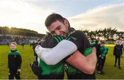 26 November 2017; Luke Connolly celebrates with Barry O'Driscoll of Nemo Rangers after the AIB Munster GAA Football Senior Club Championship Final match between Dr. Crokes and Nemo Rangers at Páirc Ui Rinn in Cork. Photo by Eóin Noonan/Sportsfile