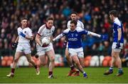 26 November 2017; Se McGuigan of Slaughtneil in action against Niall Murray of Cavan Gaels during the AIB Ulster GAA Football Senior Club Championship Final match between Slaughtneil and Cavan Gaels at the Athletic Grounds in Armagh.