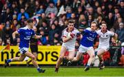 26 November 2017; Shane McGuigan of Slaughtneil in action against Kevin Meehan of Cavan Gaels during the AIB Ulster GAA Football Senior Club Championship Final match between Slaughtneil and Cavan Gaels at the Athletic Grounds in Armagh. Photo by Philip Fitzpatrick