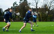 28 November 2017; Fergus McFadden, right, and Josh van der Flier during Leinster rugby squad training at UCD in Dublin. Photo by Ramsey Cardy/Sportsfile