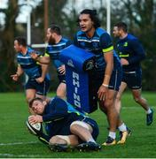 28 November 2017; James Lowe, above, and Jordi Murphy during Leinster rugby squad training at UCD in Dublin. Photo by Ramsey Cardy/Sportsfile
