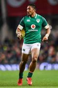 25 November 2017; Bundee Aki of Ireland during the Guinness Series International match between Ireland and Argentina at the Aviva Stadium in Dublin. Photo by Ramsey Cardy/Sportsfile