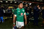 25 November 2017; Bundee Aki of Ireland following the Guinness Series International match between Ireland and Argentina at the Aviva Stadium in Dublin. Photo by Ramsey Cardy/Sportsfile