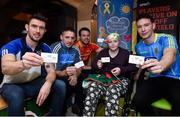 28 November 2017; The Gaelic Players Association (GPA) and Childhood Cancer Foundation (CCF) today launched the #Championsofcourage Campaign which will see inter-county players across the country continue to support the CCF and help Ireland's fight against childhood cancer. In attandance is 11 year old Mayo supporter Hazel Campbell from Athy, Co. Kildare with Colm Begley of Laois, Eoghan O'Gara of Dublin, Ger Smyth of  Louth and Tadgh O'Rourke of Roscommon in St John's Ward at Our Lady's Children's Hospital, Crumlin. Photo by Matt Browne/Sportsfile