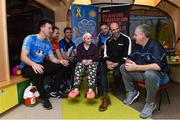 28 November 2017; The Gaelic Players Association (GPA) and Childhood Cancer Foundation (CCF) today launched the #Championsofcourage Campaign which will see inter-county players across the country continue to support the CCF and help Ireland's fight against childhood cancer. In attandance is 11 year old Hazel Campbell from Athy, Co. Kildare with Rocsommon manager Kevin McStay, GPA CEO Dermot Earley, Eoghan O'Gara of  Dublin, Colm Begley of Laois, Ger Smyth of  Louth and Tadgh O'Rourke of Roscommon in St John's Ward at Our Lady's Children's Hospital, Crumlin. Photo by Matt Browne/Sportsfile