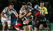 1 December 2017; Greg Jones of Ulster is tackled by Aaron Wainwright and Ollie Griffiths of Dragons during the Guinness PRO14 Round 10 match between Dragons and Ulster at Rodney Parade in Newport, Wales. Photo by Chris Fairweather/Sportsfile