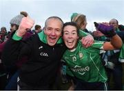 2 December 2017; Inter county referee Cathal McAllister celebrates with his daughter Lauren McAllister of Aghada after the All-Ireland Ladies Football Junior Club Championship Final match between Aghada and Corduff at Crettyard in Co Laois. Photo by Matt Browne/Sportsfile