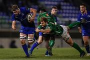 2 December 2017; Jordi Murphy of Leinster is tackled by Tomas Baravalle of Benetton on his way to scoring his side's second try during the Guinness PRO14 Round 10 match between Benetton and Leinster at the Stadio Comunale di Monigo in Treviso, Italy. Photo by Ramsey Cardy/Sportsfile