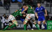 2 December 2017; Andrew Porter of Leinster is tackled by Whetu Douglas, left, and Sebastian Negri of Benetton during the Guinness PRO14 Round 10 match between Benetton and Leinster at the Stadio Comunale di Monigo in Treviso, Italy. Photo by Ramsey Cardy/Sportsfile