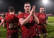 2 December 2017; Brian Scott of Munster applauds supporters after the Guinness PRO14 Round 10 match between Munster and Ospreys at Irish Independent Park in Cork. Photo by Diarmuid Greene/Sportsfile
