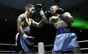 2 December 2017; Graham McCormack, right, in action against Richard Baba during their bout at the National Stadium in Dublin. Photo by David Fitzgerald/Sportsfile