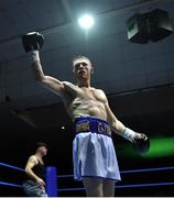 2 December 2017; Graham McCormack celebrates his victory over Richard Baba following their bout at the National Stadium in Dublin. Photo by David Fitzgerald/Sportsfile