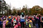 3 December 2017; parkrun Ireland in partnership with Vhi, expanded their range of junior events to thirteen with the introduction of the Marlay junior parkrun on Sunday morning. Pictured are junior participants warming up ahead of the parkrun. Junior parkruns are 2km long and cater for 4 to 14 year olds, free of charge. They provide a fun and safe environment for children to enjoy exercise. To register for a parkrun near you visit www.parkrun.ie. Photo by Eóin Noonan/Sportsfile