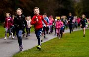 3 December 2017; parkrun Ireland in partnership with Vhi, expanded their range of junior events to thirteen with the introduction of the Marlay junior parkrun on Sunday morning. Pictured are junior participants. Junior parkruns are 2km long and cater for 4 to 14 year olds, free of charge. They provide a fun and safe environment for children to enjoy exercise. To register for a parkrun near you visit www.parkrun.ie. Photo by Eóin Noonan/Sportsfile