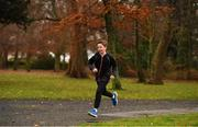 3 December 2017; A participant taking park in the parkrun Ireland event in Deerpark, Mount Merrion, Dublin. parkrun Ireland in partnership with Vhi, expanded their range of junior events to thirteen with the introduction of the Deerpark junior parkrun on Sunday, December 3rd. Junior parkruns are 2km long and cater for 4 to 14 year olds, free of charge providing a fun and safe environment for children to enjoy exercise. To register for a parkrun near you visit www.parkrun.ie. Photo by Brendan Moran/Sportsfile