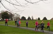 3 December 2017; Participants taking park in the parkrun Ireland event in Deerpark, Mount Merrion, Dublin. parkrun Ireland in partnership with Vhi, expanded their range of junior events to thirteen with the introduction of the Deerpark junior parkrun on Sunday, December 3rd. Junior parkruns are 2km long and cater for 4 to 14 year olds, free of charge providing a fun and safe environment for children to enjoy exercise. To register for a parkrun near you visit www.parkrun.ie. Photo by Brendan Moran/Sportsfile