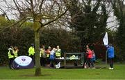 3 December 2017; Volunteers ahead of the parkrun Ireland event in Deerpark, Mount Merrion, Dublin. parkrun Ireland in partnership with Vhi, expanded their range of junior events to thirteen with the introduction of the Deerpark junior parkrun on Sunday, December 3rd. Junior parkruns are 2km long and cater for 4 to 14 year olds, free of charge providing a fun and safe environment for children to enjoy exercise. To register for a parkrun near you visit www.parkrun.ie. Photo by Brendan Moran/Sportsfile