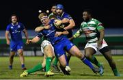 2 December 2017; James Tracy of Leinster is tackled by Tommaso Benvenuti of Benetton during the Guinness PRO14 Round 10 match between Benetton and Leinster at the Stadio Comunale di Monigo in Treviso, Italy. Photo by Ramsey Cardy/Sportsfile