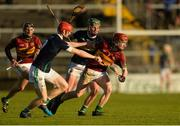 3 December 2017; Jack Grealish of Gort in action against Stephen Barrett and Ronan Elwood, behind, of Liam Mellows during the Galway County Senior Hurling Championship Final match between Gort and Liam Mellows at Pearse Stadium in Galway. Photo by Piaras Ó Mídheach/Sportsfile