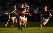 3 December 2017; Jason Grealish of Gort takes on Mark Hughes and Stephen Barrett, right, of Liam Mellows during the Galway County Senior Hurling Championship Final match between Gort and Liam Mellows at Pearse Stadium in Galway. Photo by Piaras Ó Mídheach/Sportsfile