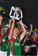 3 December 2017; Carnacon captain Cora Staunton lifts the trophy following her side's victory during the All-Ireland Ladies Football Senior Club Senior Championship Final match between Carnacon and Mourneabbey at Parnell Park in Dublin. Photo by Seb Daly/Sportsfile