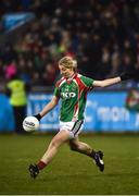 3 December 2017; Cora Staunton of Carnacon kicks a point during the All-Ireland Ladies Football Senior Club Senior Championship Final match between Carnacon and Mourneabbey at Parnell Park in Dublin. Photo by Seb Daly/Sportsfile