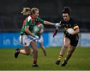 3 December 2017; Doireann O'Sullivan of Mourneabbey in action against Marie Corbett of Carnacon during the All-Ireland Ladies Football Senior Club Senior Championship Final match between Carnacon and Mourneabbey at Parnell Park in Dublin. Photo by Seb Daly/Sportsfile