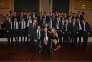2 December 2017; Former Antrim senior football captain Anto Finnegan, who was the guest of honour, with Denis Bastick, his wife Jody, manager Jim Gavin and the Dublin squad at the All-Ireland medal presentation in the InterContinental Dublin in Ballsbridge, Dublin. Photo by Ray McManus/Sportsfile