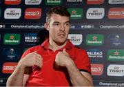 4 December 2017; Peter O'Mahony during a Munster Rugby press conference at the University of Limerick in Limerick. Photo by Diarmuid Greene/Sportsfile