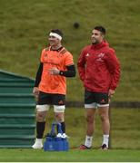 4 December 2017; Peter O'Mahony and Conor Murray during Munster Rugby squad training at the University of Limerick in Limerick. Photo by Diarmuid Greene/Sportsfile