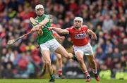 2 April 2017; Kyle Hayes of Limerick in action against David Griffin of Cork during the Allianz Hurling League Division 1 Quarter-Final match between Cork and Limerick at Páirc Uí Rinn in Cork. Photo by Eóin Noonan/Sportsfile