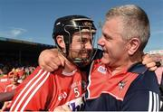 18 June 2017; Christopher Joyce of Cork celebrates with Cork selector Diarmuid O'Sullivan after the Munster GAA Hurling Senior Championship Semi-Final match between Waterford and Cork at Semple Stadium in Thurles, Co Tipperary.  Photo by Piaras Ó Mídheach/Sportsfile