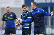 4 December 2017; Luke McGrath, left, and Nick McCarthy during Leinster rugby squad training at Donnybrook Stadium in Dublin. Photo by Ramsey Cardy/Sportsfile
