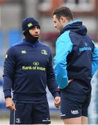 4 December 2017; Isa Nacewa, left, and Robbie Henshaw during Leinster rugby squad training at Donnybrook Stadium in Dublin. Photo by Ramsey Cardy/Sportsfile