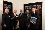 4 December 2017; In attendance at the launch of the A Season of Sundays 2017 at The Croke Park in Dublin are, from left, Sportsfile's Ray McManus, John Comerford, Chief Operations Officer, Carrolls of Tullamore, Uachtarán Chumann Lúthchleas Gael Aogán Ó Fearghail, All-Ireland winning Dublin football manager Jim Gavin and GAA Director of Communications Alan Milton. Photo by Stephen McCarthy/Sportsfile Uachtarán Chumann Lúthchleas Gael Aogán Ó Fearghail
