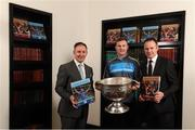 4 December 2017; In attendance at the launch of the A Season of Sundays 2017 at The Croke Park in Dublin are, from left, All-Ireland winning Dublin football manager Jim Gavin, All-Ireland winning footballer Ciaran Kilkenny of Dublin and GAA Director of Communications Alan Milton. Photo by Stephen McCarthy/Sportsfile