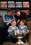 4 December 2017; In attendance at the launch of the A Season of Sundays 2017 at The Croke Park in Dublin are All-Ireland winning Dublin footballers Ciaran Kilkenny, left, and Dean Rock with 7 year old Sean and 4 year old Rory Whelan, from Bayside, Dublin. Photo by Stephen McCarthy/Sportsfile