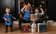 4 December 2017; In attendance at the launch of the A Season of Sundays 2017 at The Croke Park in Dublin are 2 year old Sadhbh, 7 year old Sean and 4 year old Rory Whelan, from Bayside, Dublin. Photo by Stephen McCarthy/Sportsfile