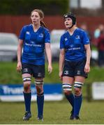 3 December 2017; Aoife McDermott, left, and Orla Fitzsimons of Leinster during the Women's Interprovincial Rugby match between Ulster and Leinster at Dromore RFC in Dromore, Co Antrim. Photo by David Fitzgerald/Sportsfile