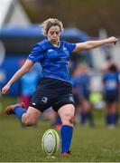 3 December 2017; Aine Donnelly of Leinster during the Women's Interprovincial Rugby match between Ulster and Leinster at Dromore RFC in Dromore, Co Antrim. Photo by David Fitzgerald/Sportsfile
