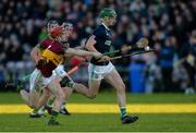 3 December 2017; Ronan Elwood of Liam Mellows in action against Jack Grealish of Gort during the Galway County Senior Hurling Championship Final match between Gort and Liam Mellows at Pearse Stadium in Galway. Photo by Piaras Ó Mídheach/Sportsfile