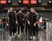 6 December 2017; Austin Gleeson of Waterford, left, and Ronan Maher of Tipperary at Dublin Airport prior to departure for the PwC All Star Tour 2017 in Singapore. Photo by Seb Daly/Sportsfile