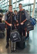 6 December 2017; Tipperary hurlers Brendan Maher, left, and Seamus Callanan at Dublin Airport prior to departure for the PwC All Star Tour 2017 in Singapore. Photo by Seb Daly/Sportsfile