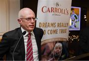 4 December 2017; In attendance at the launch of A Season of Sundays 2017 at The Croke Park Hotel in Dublin is John Comerford, Chief Operations Officer, Carrolls of Tullamore. Photo by Stephen McCarthy/Sportsfile