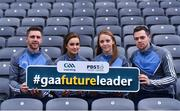 6 December 2017; In attendance, from left, are Galway hurler Aidan Hart, Galway camogie player Ava Lynskey, Dublin ladies footballer Ciara Trant and Dublin footballer Dean Rock during the Future Leaders Transition Year Programme Launch at Croke Park in Dublin. Photo by David Fitzgerald/Sportsfile