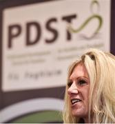 6 December 2017; Director of PDST, Ciara O'Donnell, speaking during the Future Leaders Transition Year Programme Launch at Croke Park in Dublin. Photo by David Fitzgerald/Sportsfile